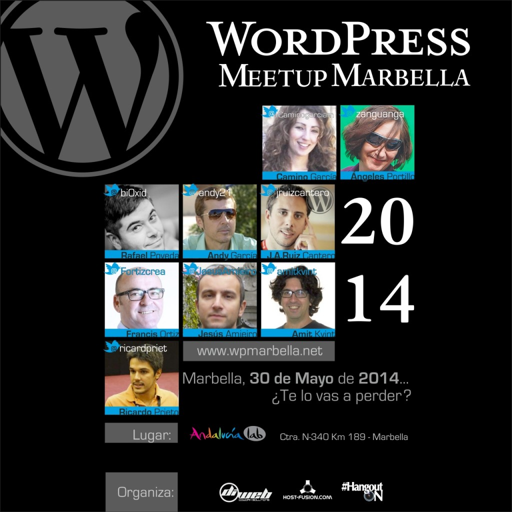 Cartel para la 2ª WordPress Meetup Marbella